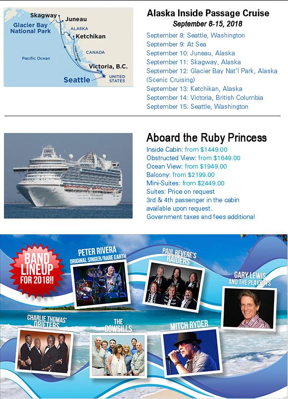 Concerts At Sea Alaska 2018 Itinerary