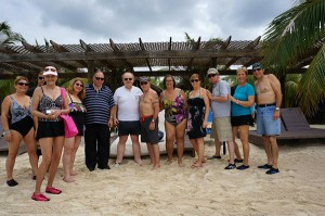 CAS friends in cabana at Roatan