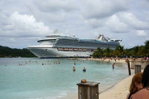 Caribbean Princess from Roatan